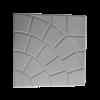 Тротуарная плитка Паутина 350х350х50 Серый