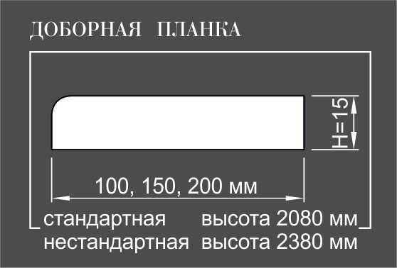Добор  100 Классический к массиву Ольха