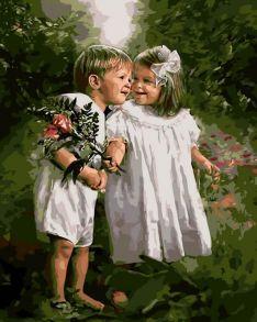 Картина по номерам «Очарование детства» 40x50 см