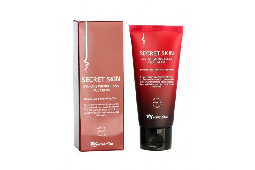Антивозрастной крем для лица с пептидами змеиного яда Secret Skin Syn-ake Wrinkleless Face Cream