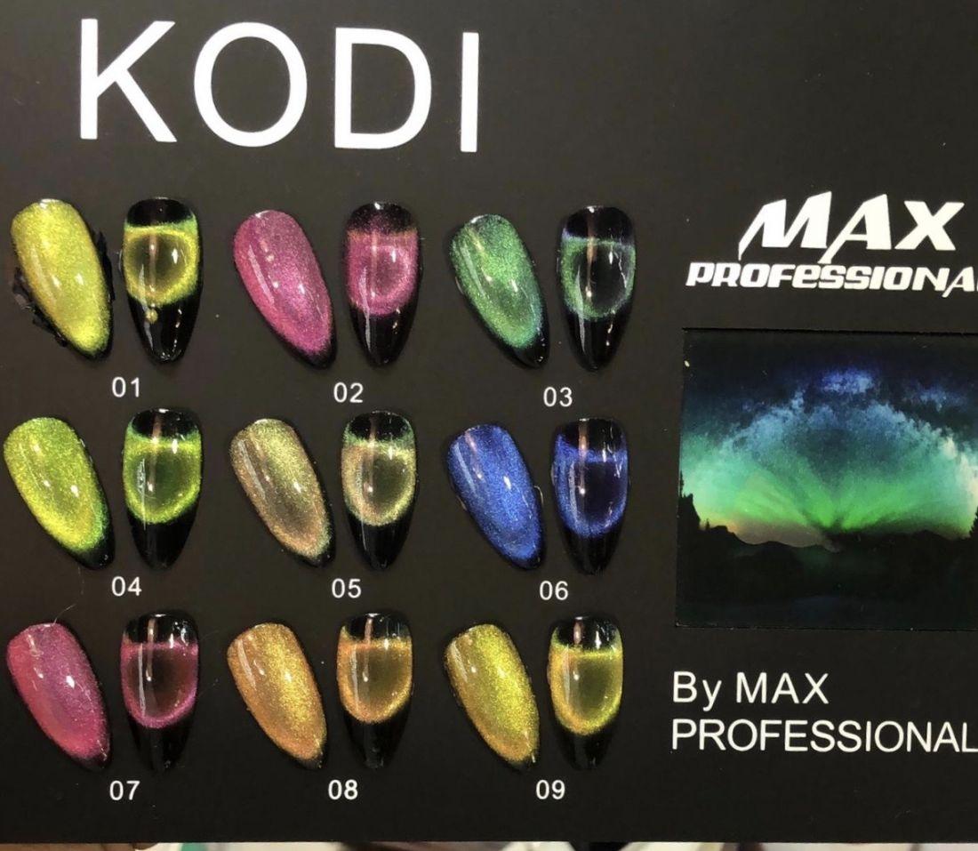 Гель лак «Moonlight 9D» 9D (эффект кошачьего глаза), 8 мл., Kodi