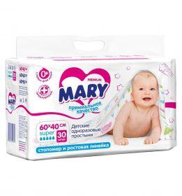 Пеленки  Mary 60х40, 30шт