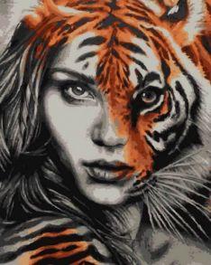 Картина по номерам «Тигрица» 40x50 см