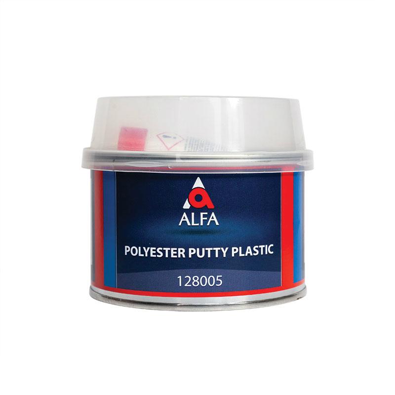 Alfa PLASTIC Полиэфирная шпатлевка по пластику + отв., объем 500гр.