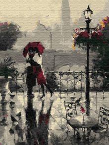 Картина по номерам «Дождливое свидание» 30x40 см