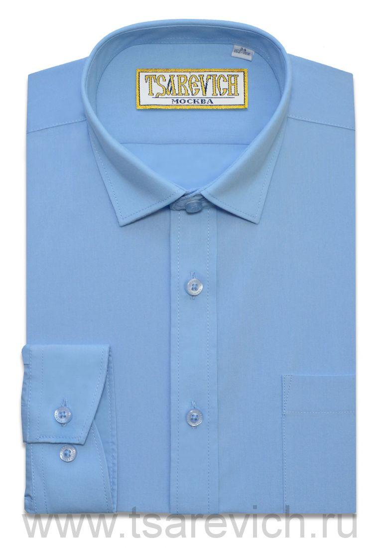 Сорочка детская Tsarevich (6-14 лет) выбор по размерам арт.Bell Blue slim  ПРИТАЛЕННАЯ