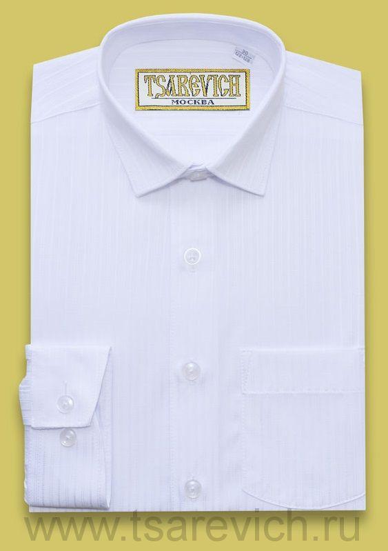 Сорочка детская Tsarevich (6-14 лет) выбор по размерам арт.Boss1 SL БЕЛАЯ пестротканая, приталенная