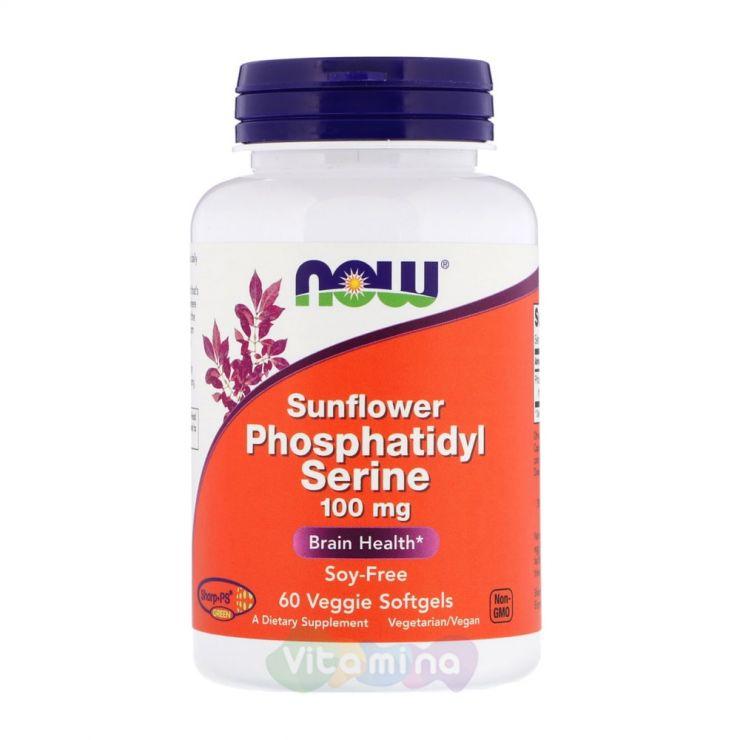 Фосфатидилсерин (Sunflower Phosphatidyl Serine) 100 мг, 60 капс.