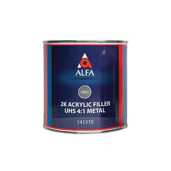 """Alfa 2К Акриловый грунт-наполнитель """"на металл"""" 4:1 FILLER UHS, название цвета """"Серый"""", объем 800мл."""