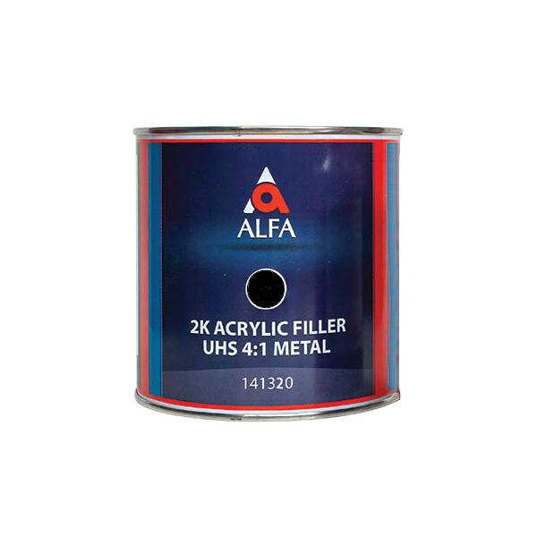 """Alfa 2К Акриловый грунт-наполнитель """"на металл"""" 4:1 FILLER UHS, название цвета """"Черный"""", объем 800мл."""