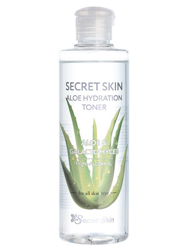 Тонер для лица с экстрактом сока листьев алоэ Secret Skin Aloe Hydration Toner