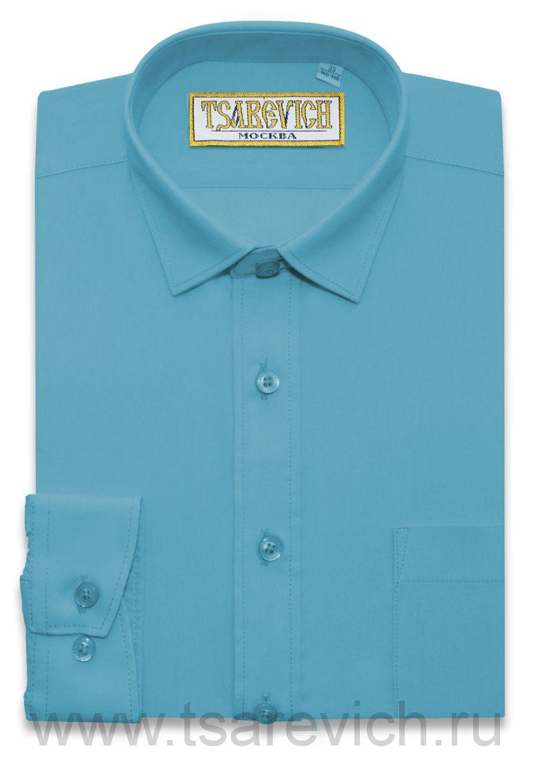 Рубашка для первоклассника 29(116-122) арт. Blue Aster длинный рукав