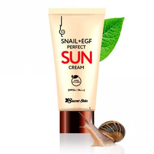Солнцезащитный крем с экстрактом улитки и фактором роста EGF Secret Skin Snail+EGF Perfect Sun Cream