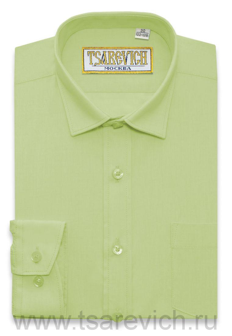 "Рубашки для мальчиков оптом ""Царевич"" (6-14 лет.). 10 шт. Артикул:Lime"