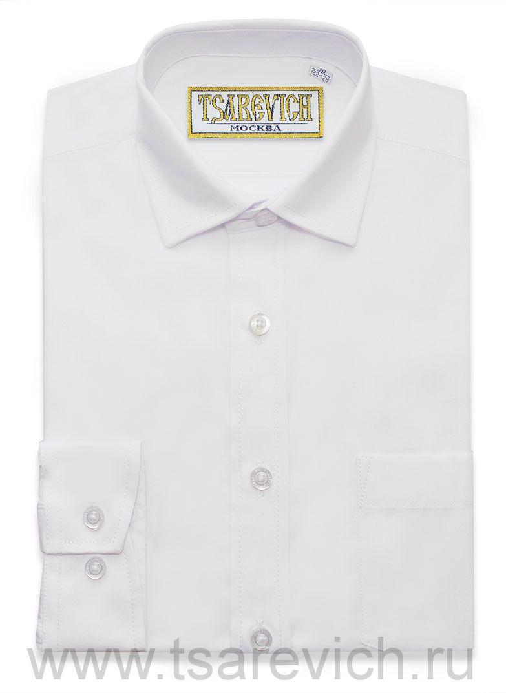 """Рубашки для мальчиков опт. """"Царевич"""" (6-14 лет.). 8 шт. Арт: PT2000 белая."""