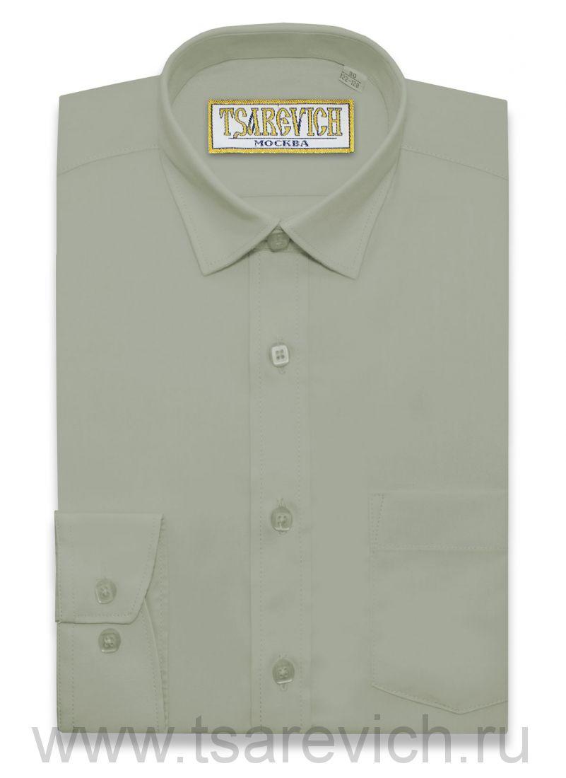 """Рубашки для мальчиков оптом """"Царевич"""" (6-14 лет.). 10 шт. Артикул: 401 New Khaki"""