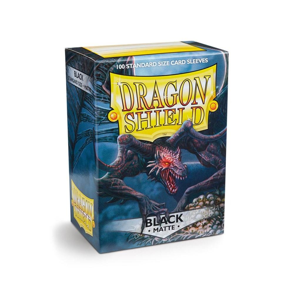 Протекторы Dragon Shield матовые черные (100 шт.)