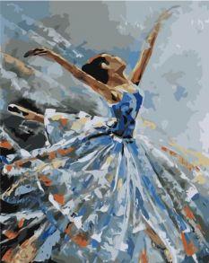 Картина по номерам «Балерина в голубом» 40x50 см