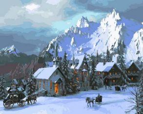 Картина по номерам «Снежное королевство» 40x50 см