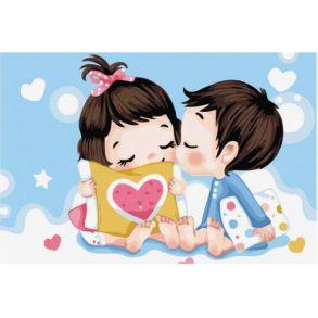 Картина по номерам «Невинный поцелуй» 20x30 см