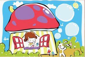 Картина по номерам «Смурфи-дом» 20x30 см