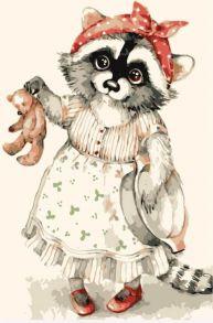 Картина по номерам «Енот и Мишка - замарашка» 20x30 см