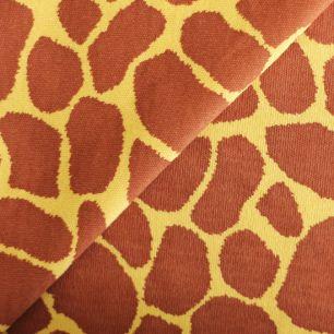Лоскут трикотажной ткани Жираф