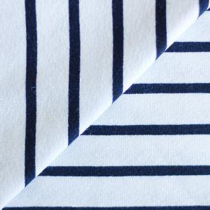 Лоскут трикотажной ткани Белый в полоску