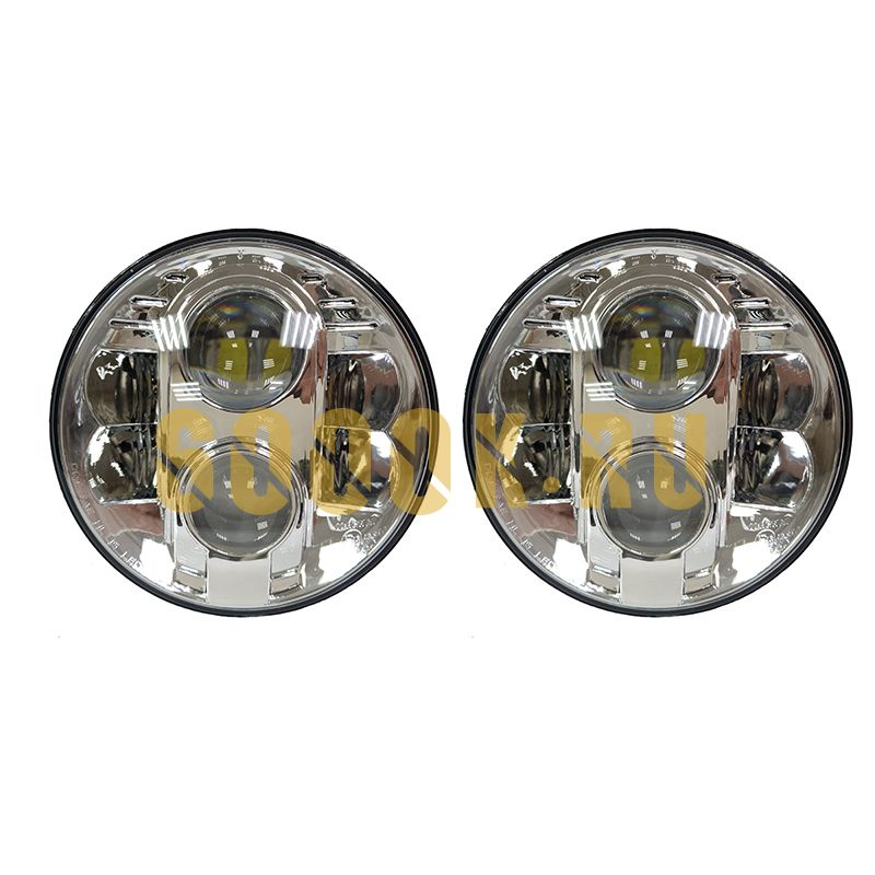Светодиодные фары головного света 7 дюймов CHROME 160Вт с ДХО