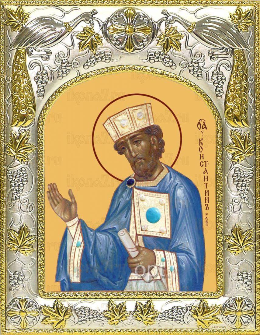 Икона Константин равноапостольный царь (14х18)