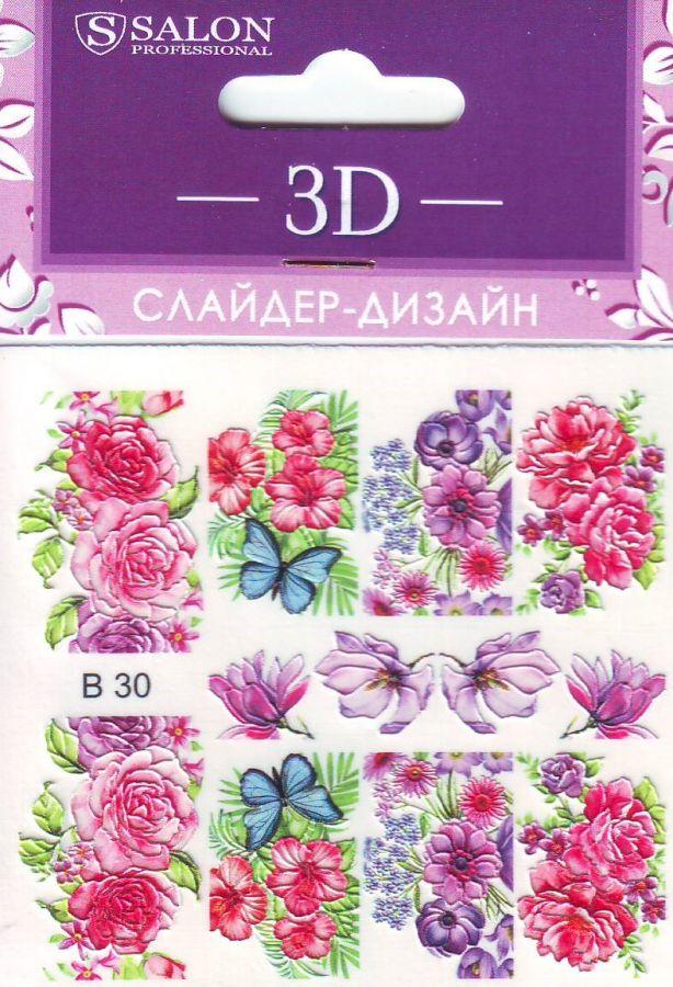 3D Слайдер-дизайн В30 SALON цветы