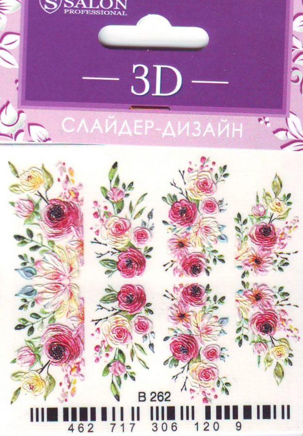 3D Слайдер-дизайн B262 SALON цветы