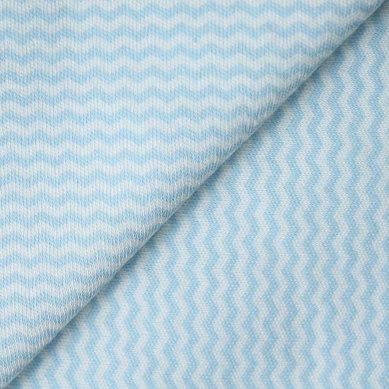 Лоскут трикотажной Голубой шеврон