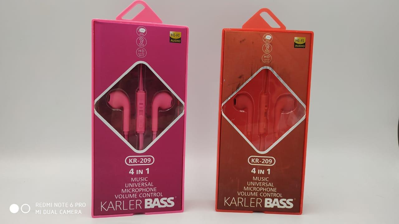 Проводные вкладыши наушники KARLER BASS KR-209
