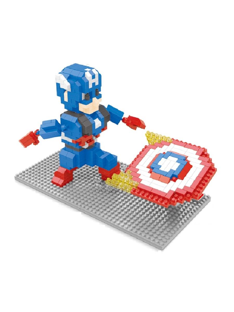 Конструктор Wisehawk & LNO Капитан Америка и щит 499 деталей NO. 2440 Captain America shield
