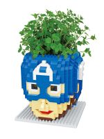 Конструктор Wisehawk & LNO Капитан Америка маска 645 деталей NO. 2598 Captain America with plant Gift Series