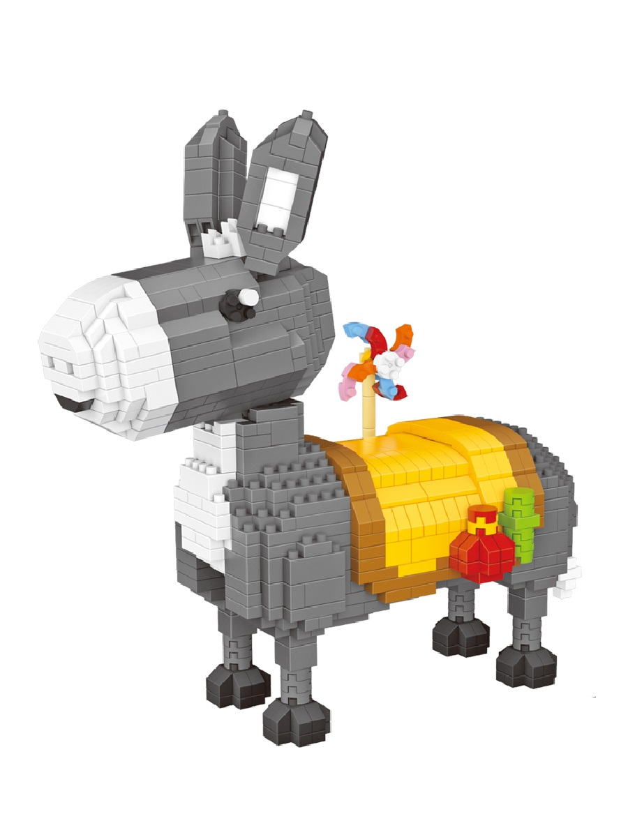 Конструктор Wisehawk & LNO Ослик Donkey 823 детали NO. 2612 Pink Series