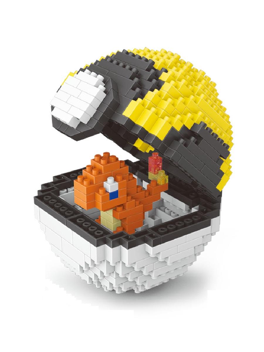 Конструктор Wisehawk & LNO покемон бол Чармандер 417 деталей NO. 2535 Charmander Pokemon ball Gift Series