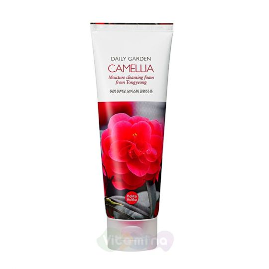 Holika Holika Очищающая пенка с камелией Daily Garden Camelia Moisture Cleansing Foam from Tongyeong, 120 мл