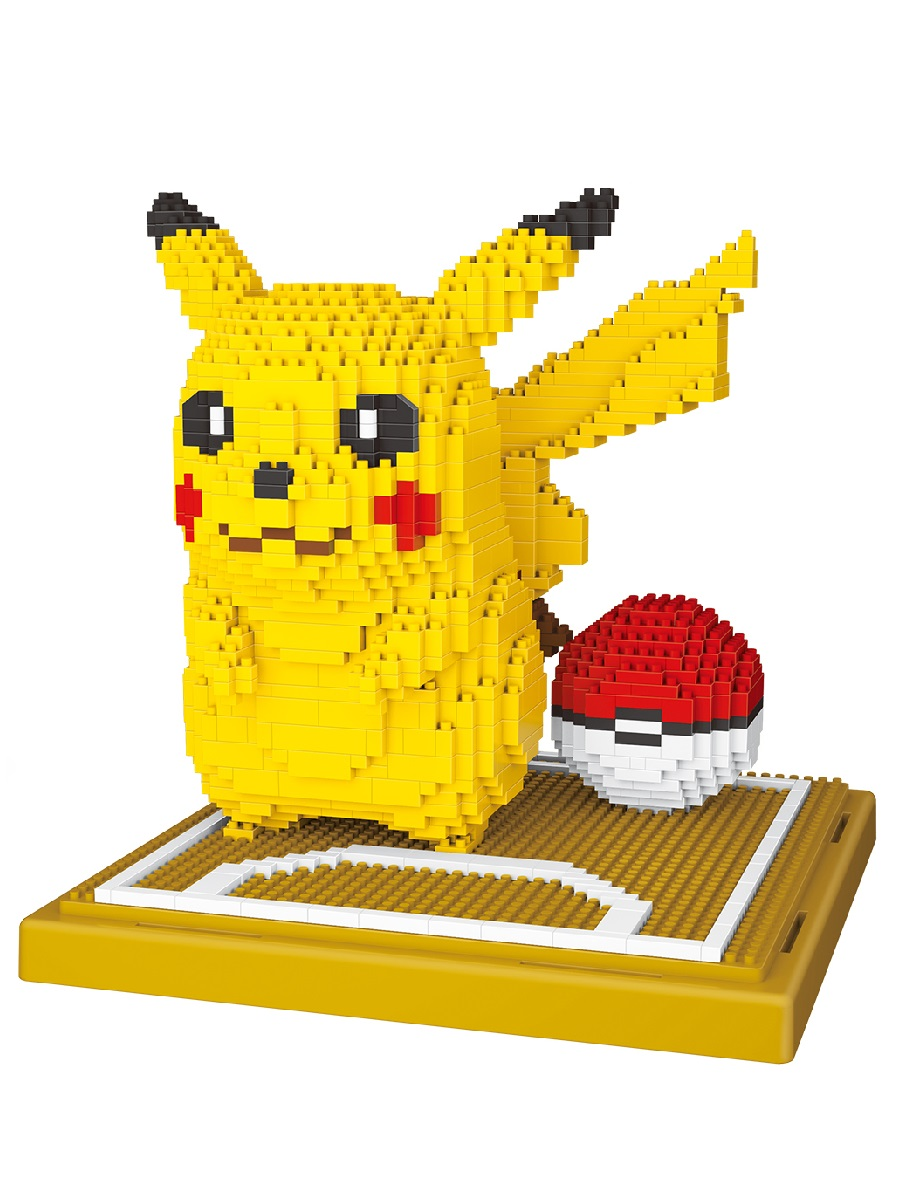 Конструктор Wisehawk & LNO покемон Пикачу большой 1260 деталей NO. 157 big Pikachu Gift Series