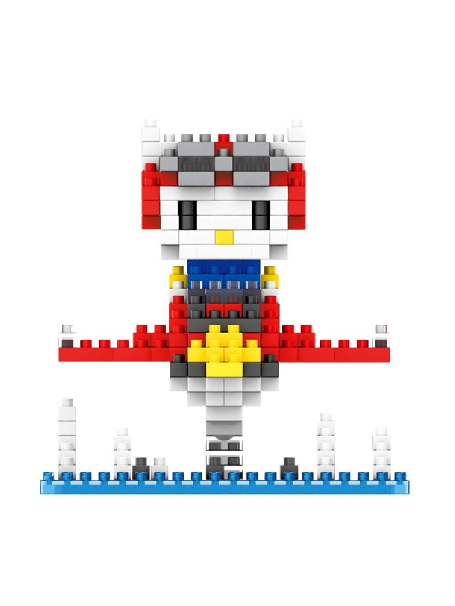 Конструктор Wisehawk & LNO Хеллоу Китти пилот 325 деталей NO. 208 Hello Kitty pilot mini blocks