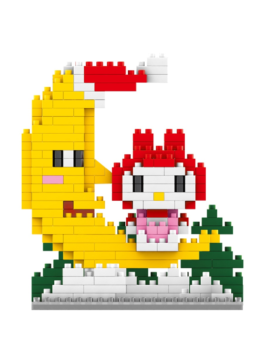 Конструктор Wisehawk & LNO Хеллоу Китти и полумесяц 221 деталь NO. 206 Hello Kitty Crescent mini blocks