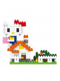 Конструктор Wisehawk & LNO Хеллоу Китти за домом 259 деталей NO. 207 Hello Kitty behind the house mini blocks