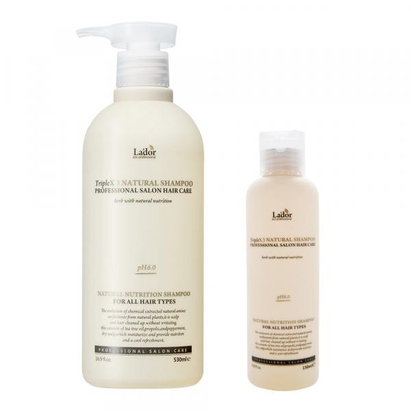 Бессульфатный органический шампунь с эфирными маслами Lador Triplex Natural Shampoo
