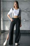 Женские брюки на подтяжках