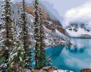 Картина по номерам «Изумрудное озеро» 40x50 см