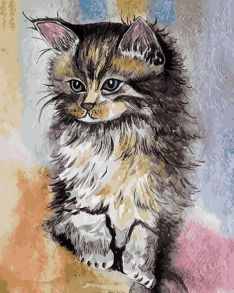 Картина по номерам «Котенок» 30x40 см