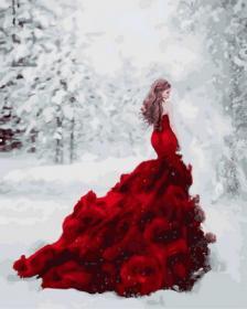 Картина по номерам «Огненное платье» 40x50 см