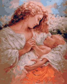Картина по номерам «Радость материнства» 40x50 см