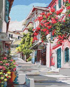Картина по номерам «Греческая улочка» 40x50 см
